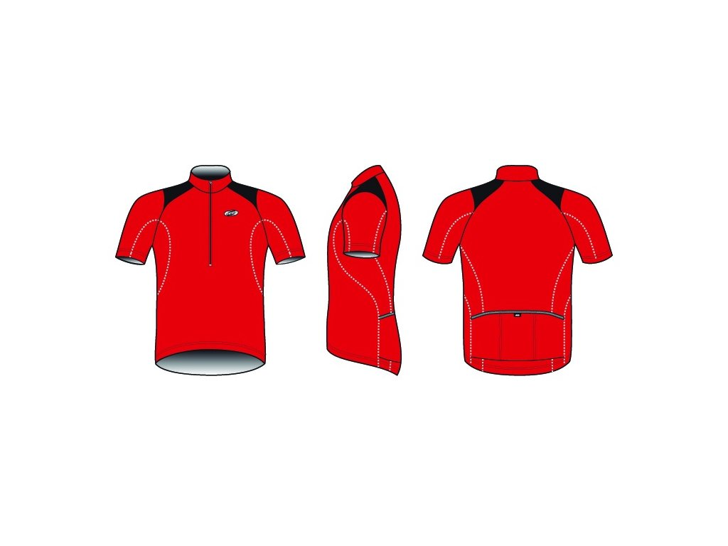 Pánský dres BBB BBW-105 ComfortFit červený