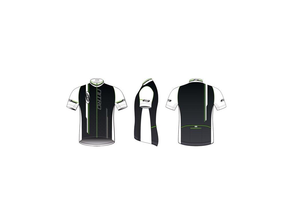 Dres BBB BBW-116 Nitro černozelený  + Nevyhovující oblečení lze vracet až do konce ledna 2021