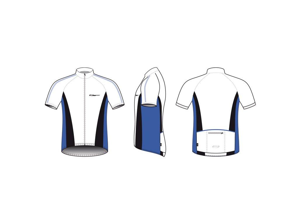 Dres BBB BBW-117 ComfortFit bílomodrý  + Nevyhovující oblečení lze vracet až do konce ledna 2021
