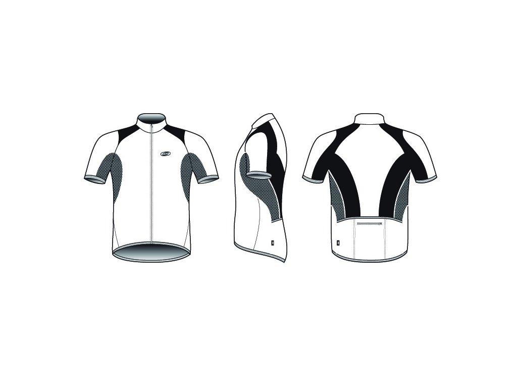 Dres BBB BBW-104 ComfortTech bílý  + Nevyhovující oblečení lze vracet až do konce ledna 2021