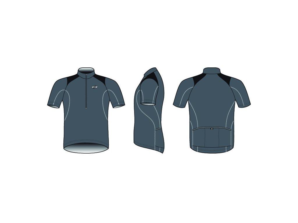Pánský dres BBB BBW-105 ComfortFit šedý