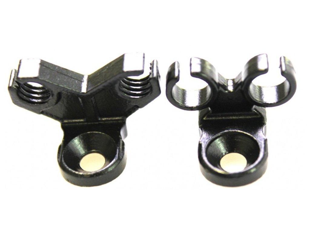 Vedení bovdenu BMX Removable cable stoper black