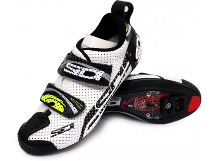 sidi t 4 air carbon comp triathlon shoes white black SID470 T4 WB PAR new