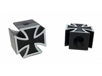 Čepička ventilku CC. / Maltézský kříž černý
