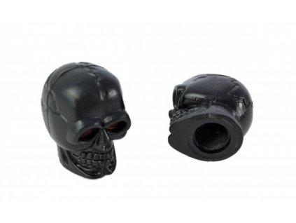 Čepička ventilku CC. / Lebky černé