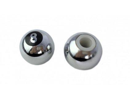 Čepička ventilku CC. / Koule 8 stříbrné