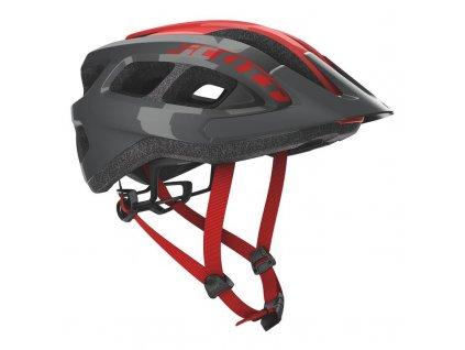 Cyklistická přilba Scott Supra Grey/red