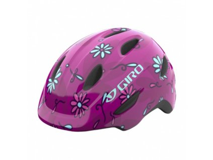 detska helma giro scamp pink street sugar daisies 2021