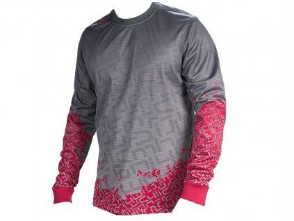 Sombrio Grappler Race pánské tričko dlouhý rukáv Shadov/Volt