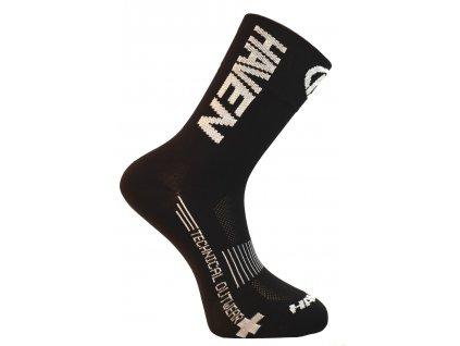 Cyklistické ponožky HAVEN Lite long černo/bílé