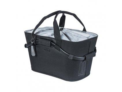 basil noir carry all mik bicycle basket rear black