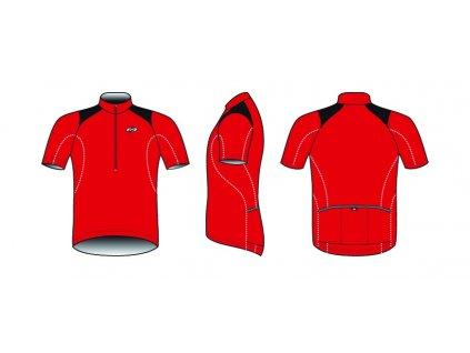 Dres BBB BBW-105 ComfortFit červený