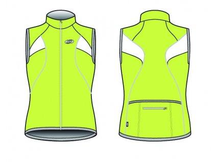 Dres BBB BBW-108 CoolGirl žlutozelený