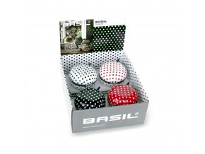 Zvonek Basil Big Bell Polkadot Box mix 4 kusy 80mm