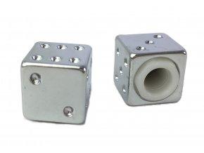 Čepička ventilku CC. / Kostky stříbrné