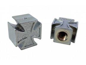 Čepička ventilku CC. / Maltézský kříž stříbrný