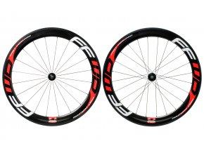 fast forward f6r carbon tubular 700c road wheelset black red white EV192161 9999 1