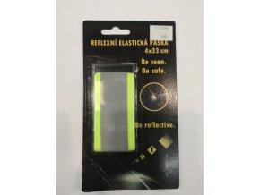 Reflexní elastická páska suchý zip 4x33 cm