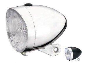 Přední světlo na kolo RETRO diodové