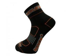 Cyklistické ponožky Haven Lite Silver černo/oranžové