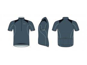 Dres BBB BBW-105 ComfortFit šedý
