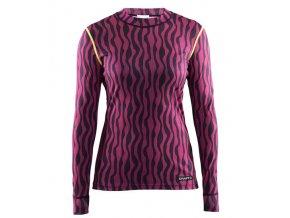 152634 damske tricko craft mix and match pink black v