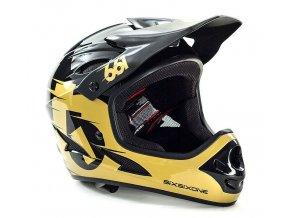 661 helmet Comp blkgold