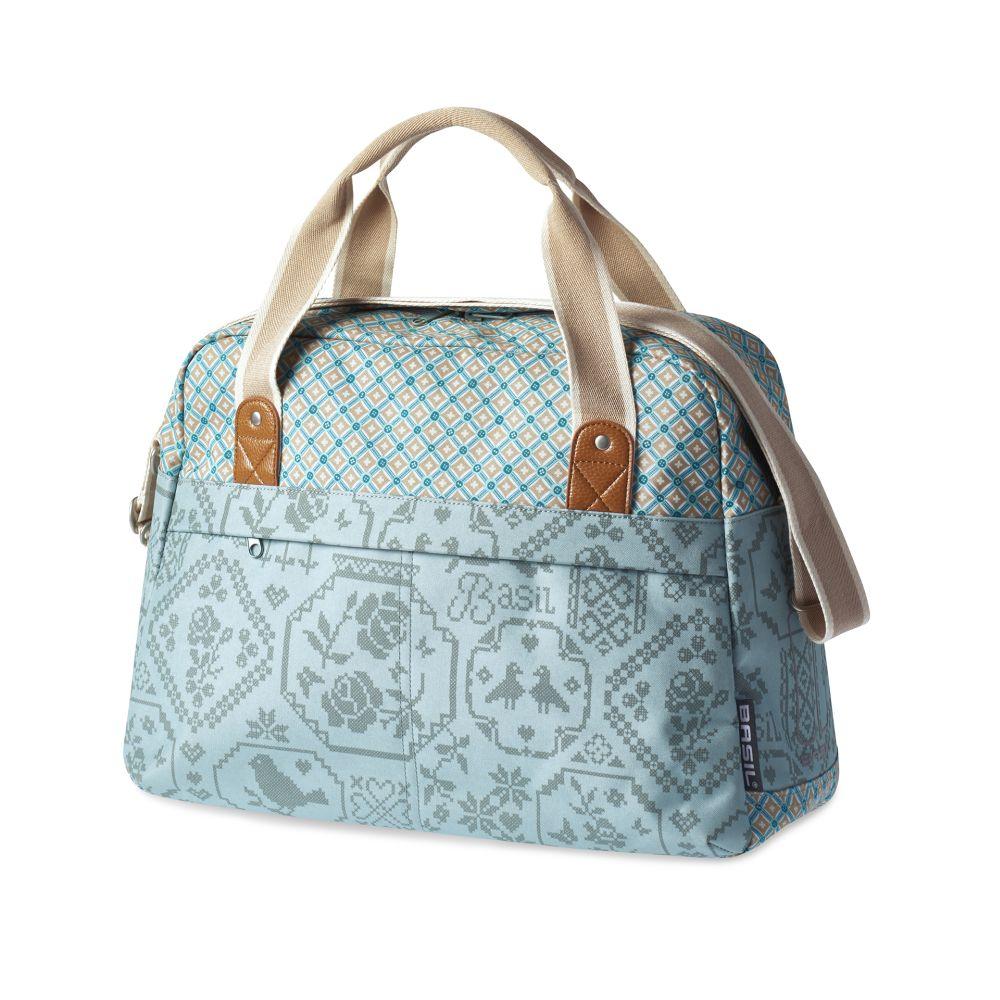 Brašna na nosič Basil Boheme-Carry jednostranná modrá
