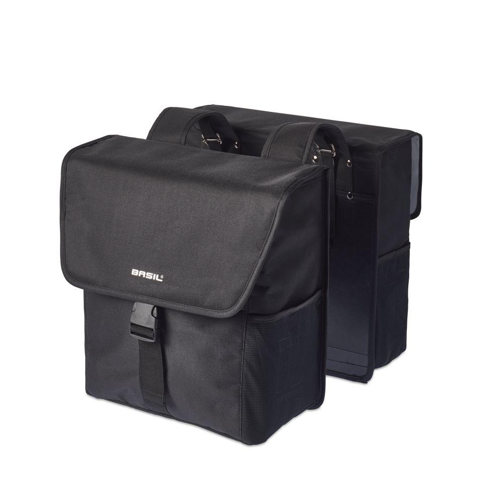Brašna na nosič Basil Go-Double Bag oboustranná černá