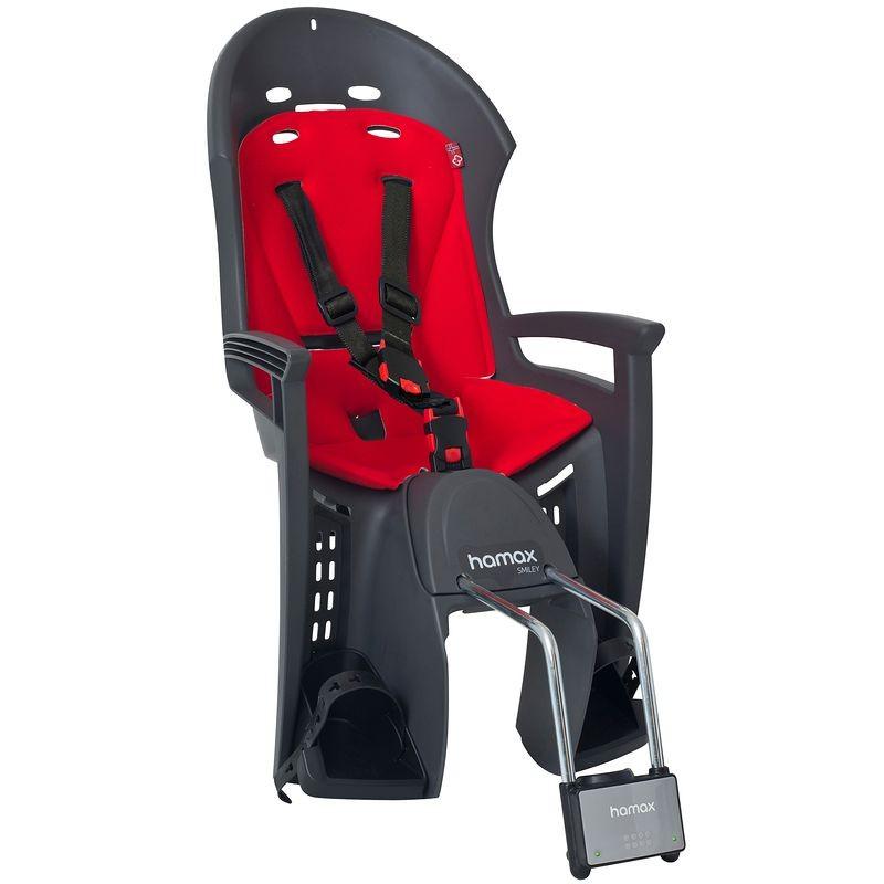 Dětská sedačka zadní Hamax Smiley šedá/černá