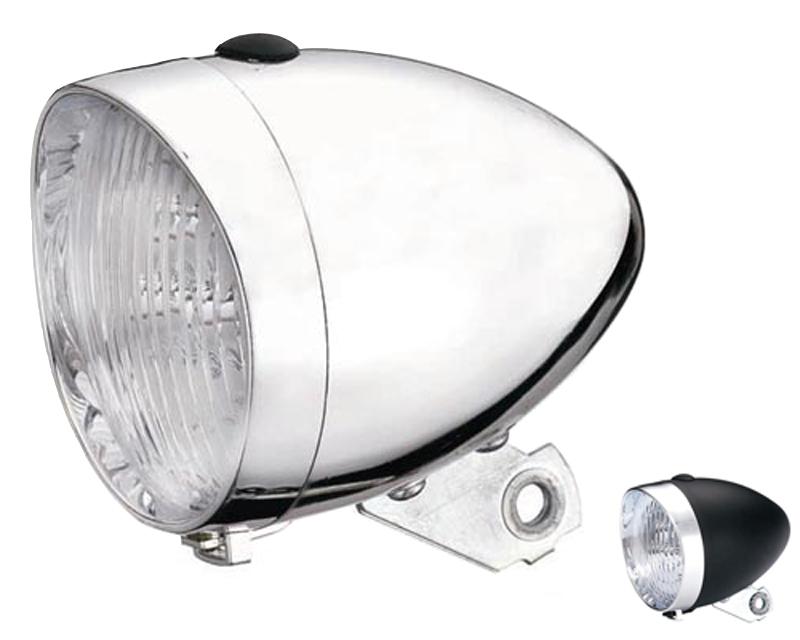 Přední světlo na kolo RETRO diodové černé