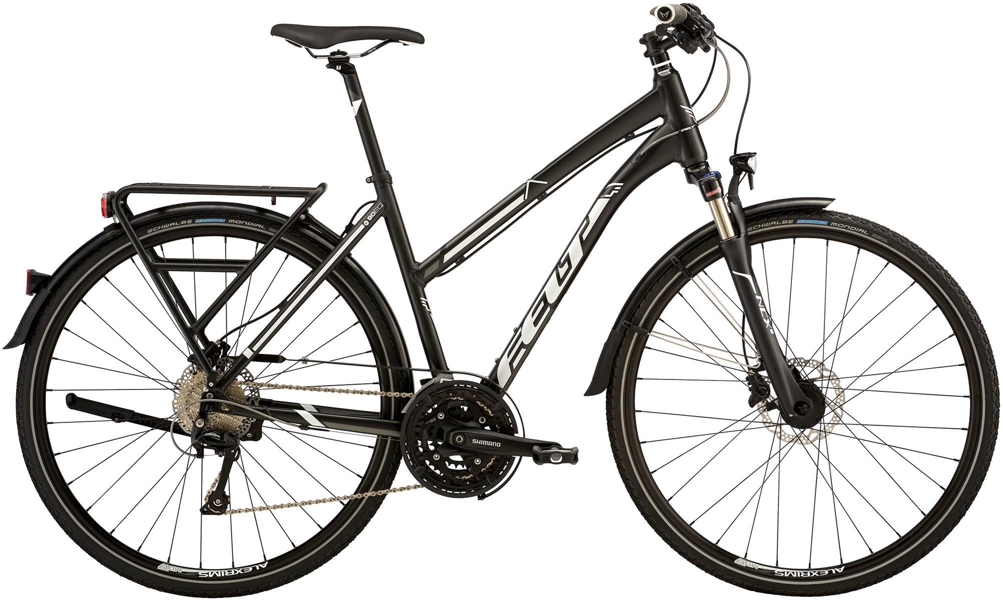 """Dámské trekové kolo FELT QX90EQ 2016 + cyklopumpa BFP-21 za 699 Kč zdarma černá, 21"""", 53 cm"""