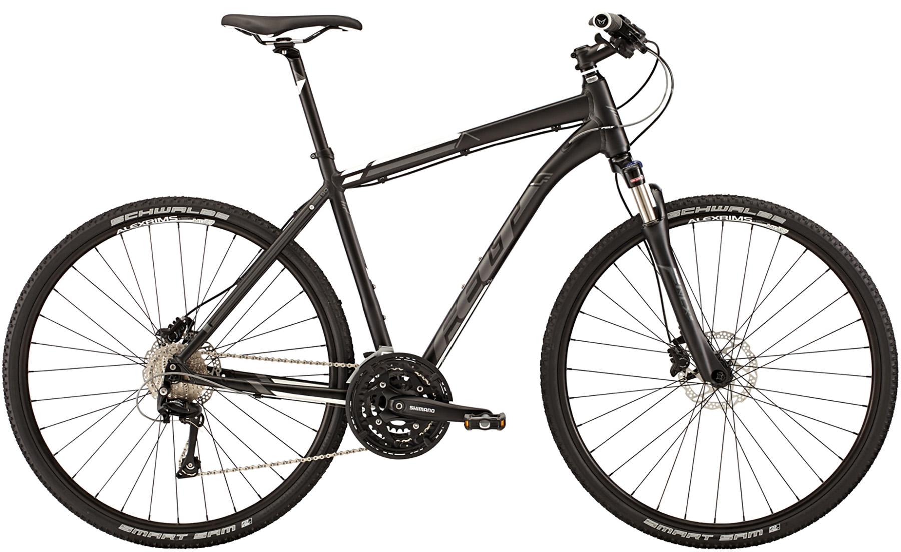 """Pánské trekové kolo FELT QX 90 2015 + cyklovýbava za 800 Kč zdarma černá, 22"""", 55 cm"""