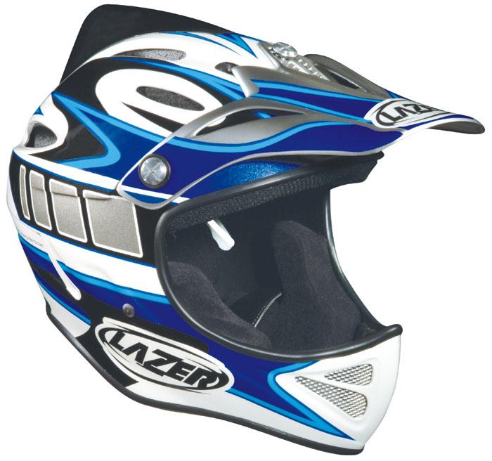 LAZER EXCALUBUR Factory Rider bílo/modrá L-XL