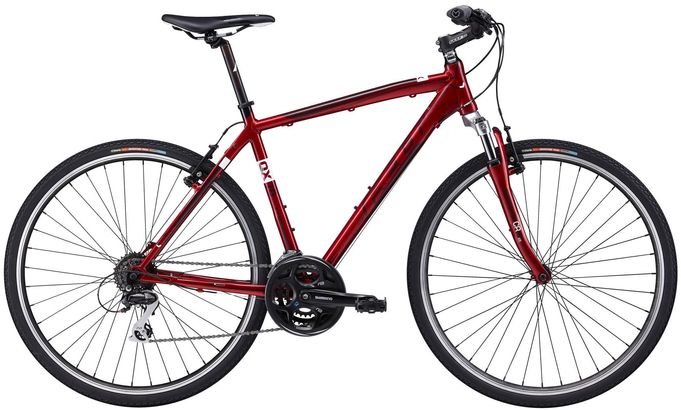 "Pánské trekové kolo Felt QX70 2012 + cyklocomputer BCP-06 za 559 Kč zdarma červená, 19"", 48 cm"