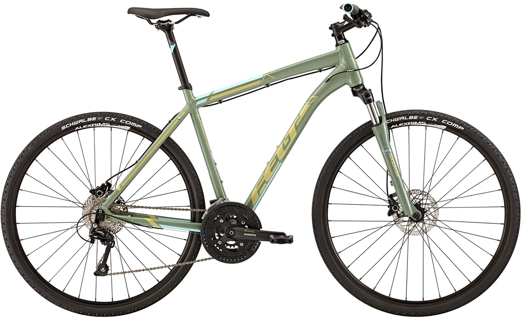 """Pánské trekové kolo FELT QX 80 2015 + cyklovýbava za 800 Kč zdarma zelená, 19"""", 48 cm"""