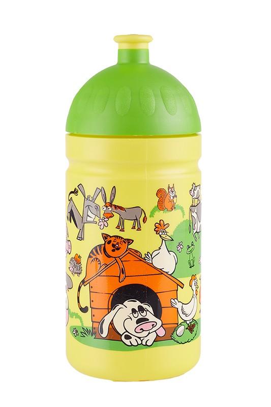 Dětská láhev na kolo zdravá 0.5l veselý dvorek