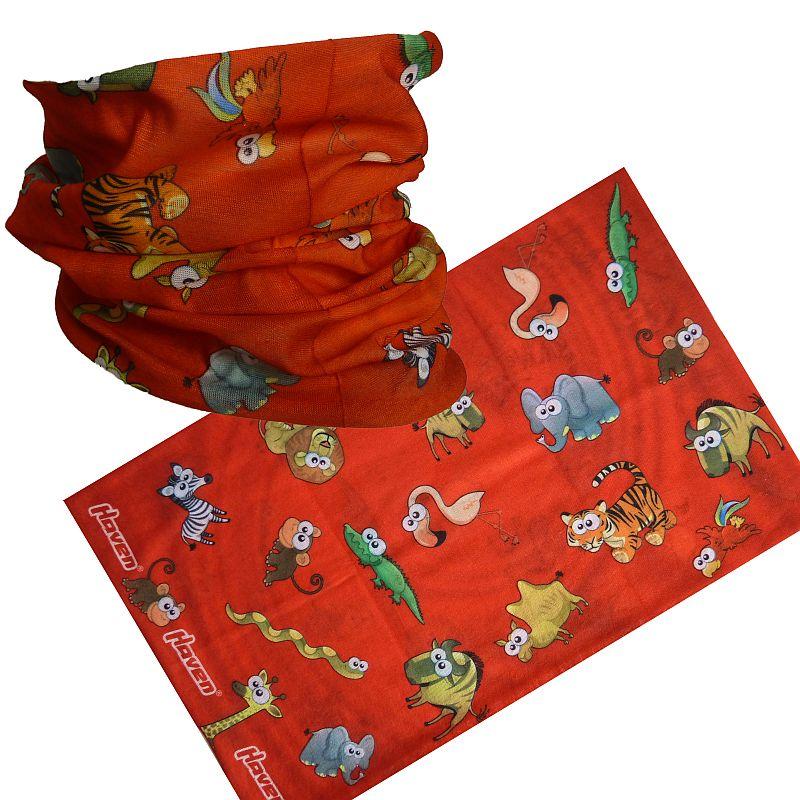 Šátek HAVEN dětský zvířata červená 04416f7a62