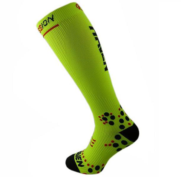 Kompresní ponožky HAVEN silver černá/růžov