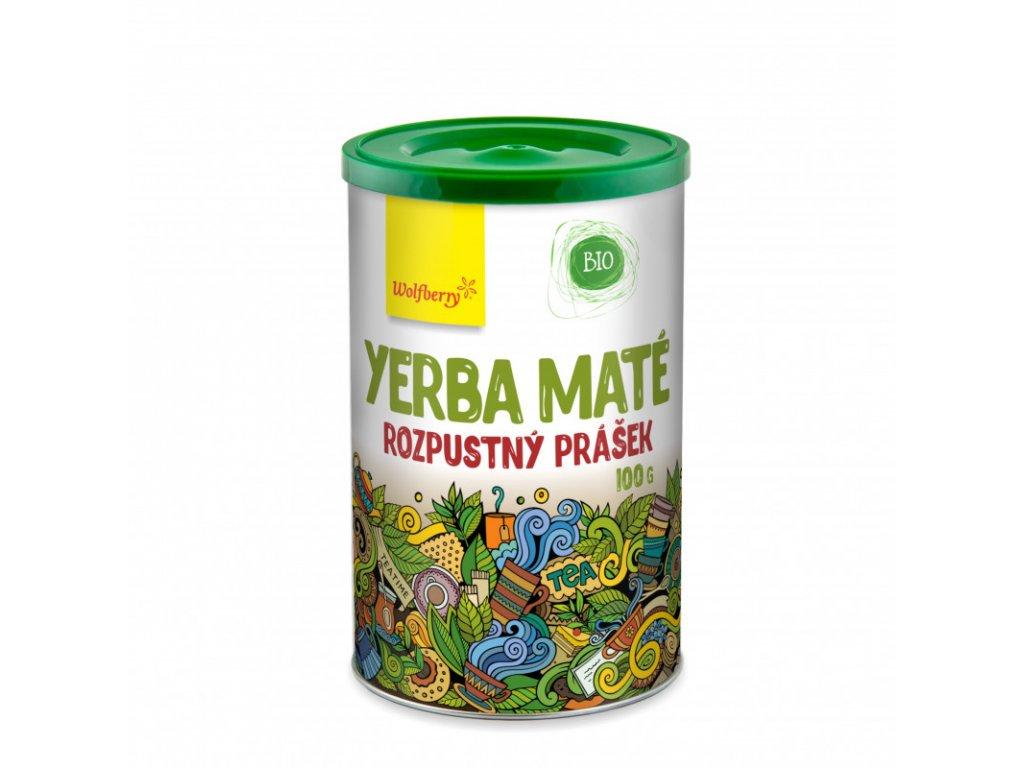 zeleny caj yerba mate prasek bio 100 g wolfberry