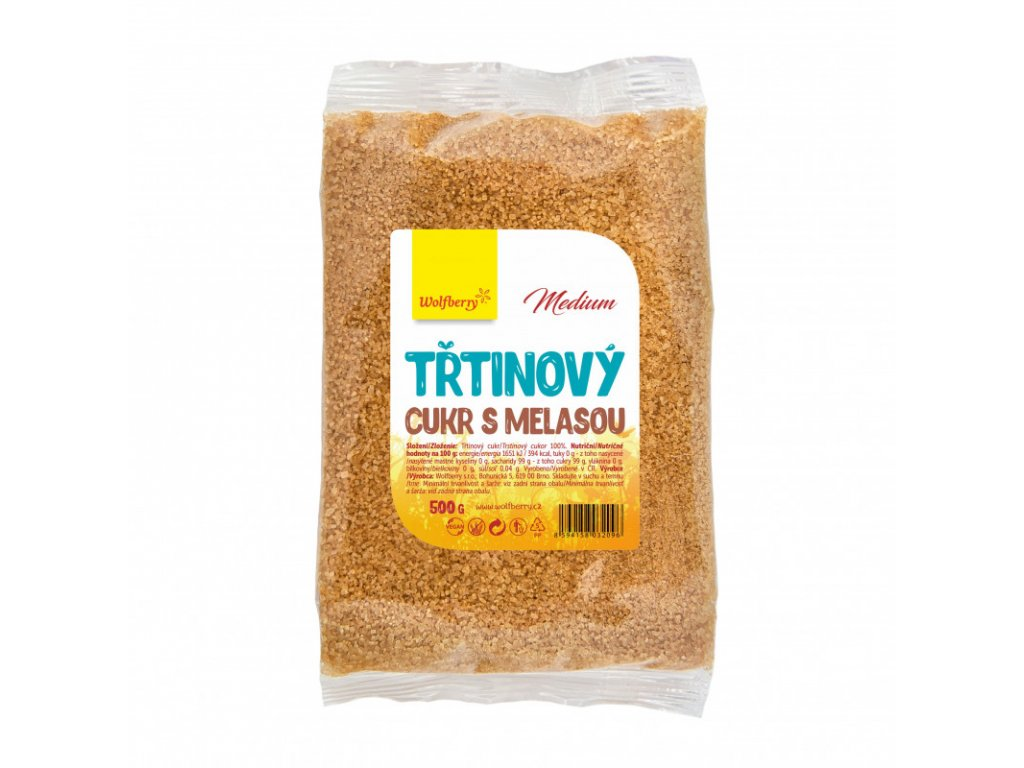 trtinovy cukr s melasou 500 g wolfberry