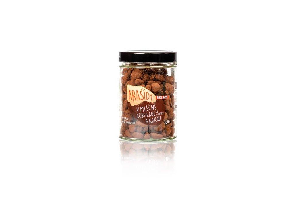 drazovane orechy 2 big boy arasidy v mlecne cokolade a kakau 300g