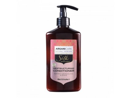 ARGANICARE SILK RESTRUCTURING CONDITIONER-INSTANT DETANGLING AND SHINE 400 ML