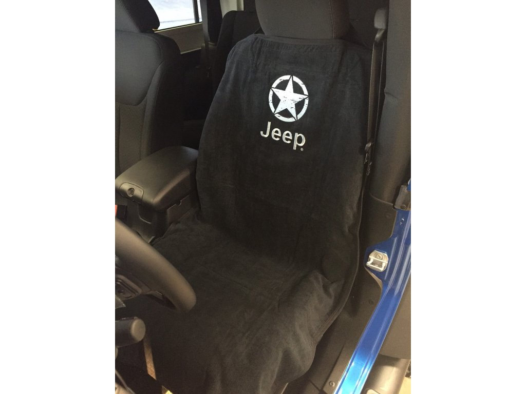 jeep star embroidered seat towel 50