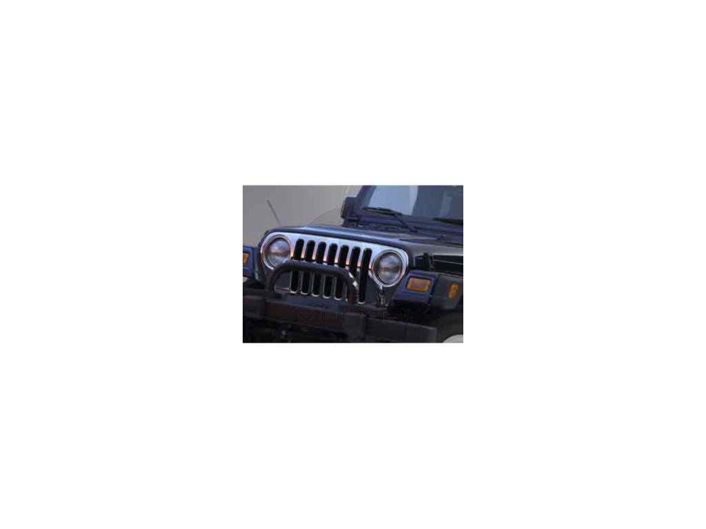 Jeep Wrangler TJ Maska chrom