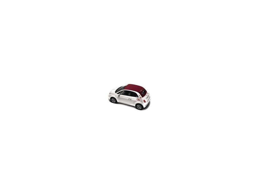 Fiat 500 Nálepka Květina slonová kost