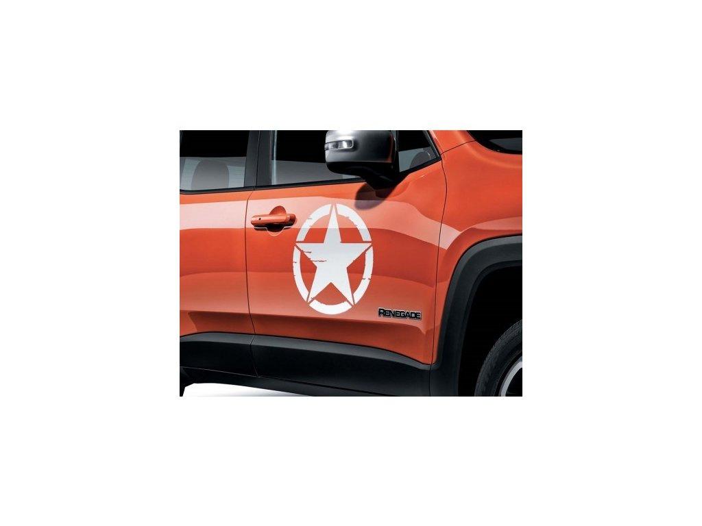 Jeep Renegade US Army hvězda na dveře bílá