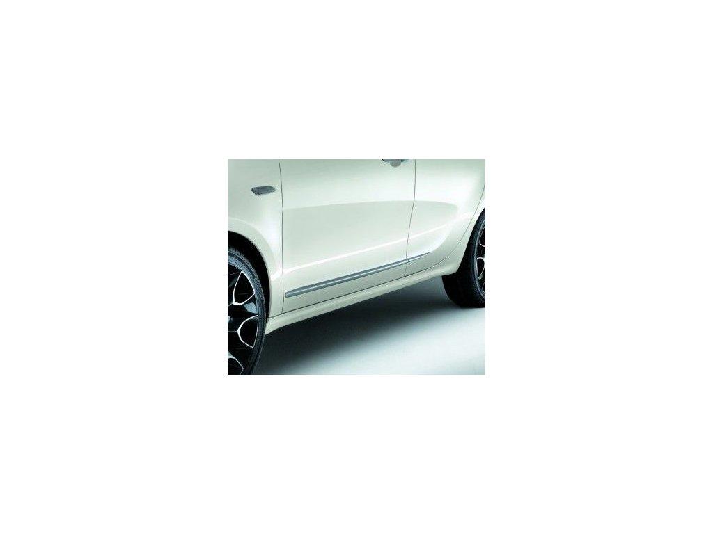 Ozdobné lišty na dveře hnědé Lancia Ypsilon