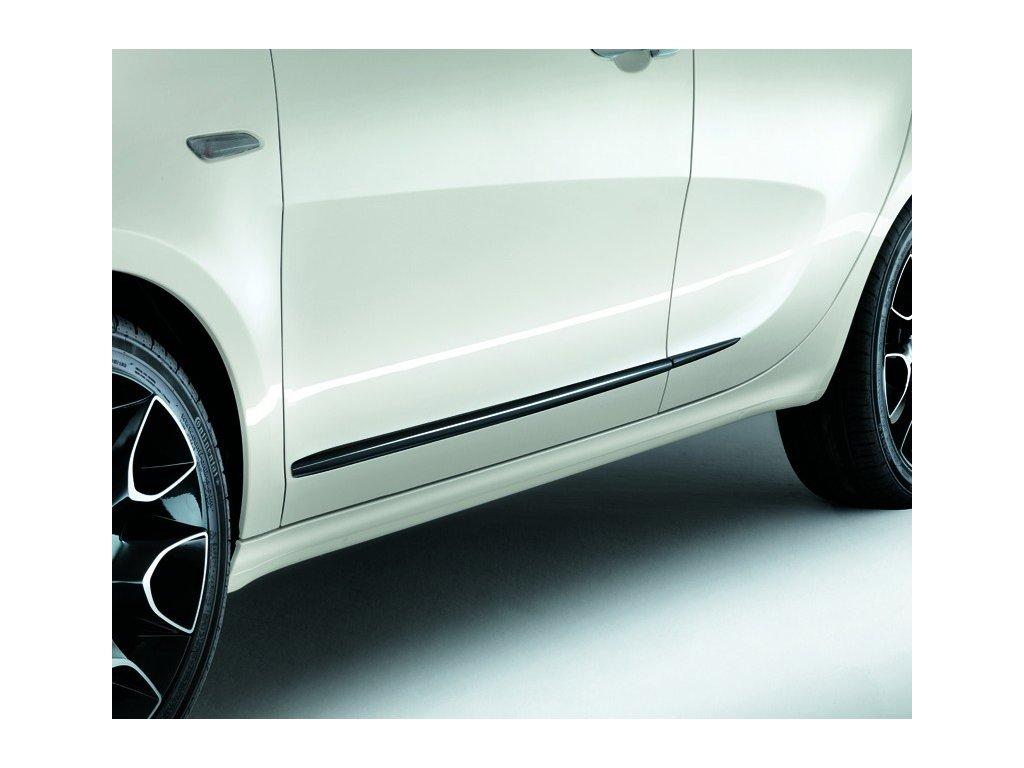 Ozdobné lišty na dveře černé Lancia Ypsilon