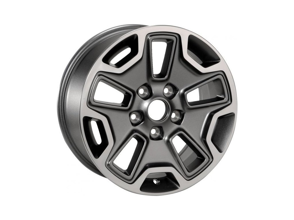 "Mopar kolo 17x7.5"" Rubicon in Polished & Mineral Gray"